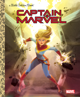 Captain Marvel Little Golden Book (Marvel) - Sazaklis, John
