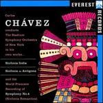 Carlos Chávaez: Sinfonia India; Sinfonia de Antigona; Symphony No. 4 (Sinfonia Romantica)