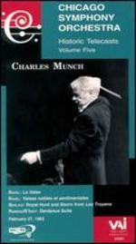 Chicago Symphony Orchestra Historic Telecasts, Vol. 5: Charles Munch