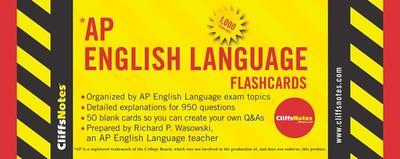 CliffsNotes AP English Language Flashcards - Wasowski, Richard P.