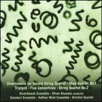 Colin Matthews: Divertimento; Oboe Quartet No. 1; Triptych; Five Concertinos; String Quartet No. 2 - Brindisi String Quartet; Divertimenti String Orchestra; Haffner Wind Ensemble of London; Melinda Maxwell (oboe);...