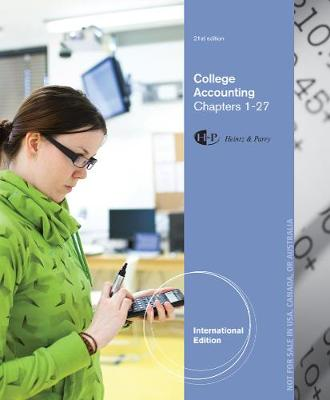 College Accounting: Chapters 1-27 - Heintz, James, and Parry, Robert
