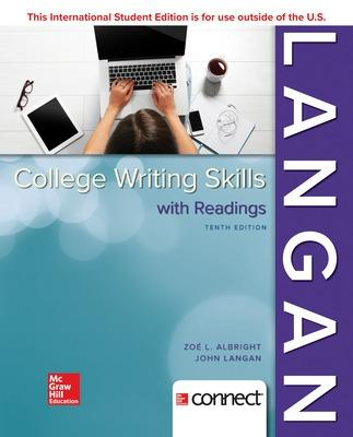 COLLEGE WRITING SKILLS WITH READINGS - Langan, John, and Albright, Zoe