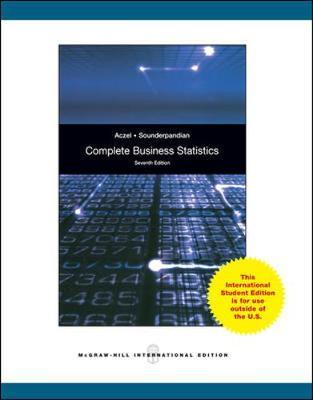 Complete Business Statistics - Aczel, Amir D.