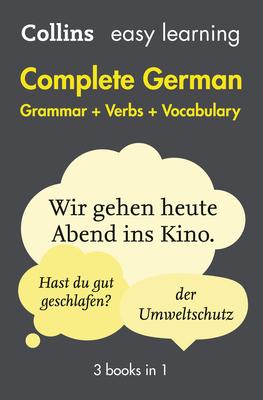 Complete German Grammar Verbs Vocabulary: 3 Books in 1 - Collins Dictionaries