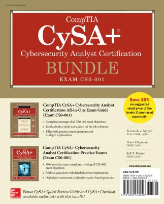 Comptia Cysa+ Cybersecurity Analyst Certification Bundle (Exam Cs0-001) - Maymi, Fernando, and Chapman, Brent, and Parker, Jeff T