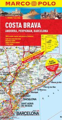 Costa Brava-Andorra, Perpignan, Barcelona Marco Polo Map -