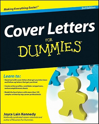 Cover Letters for Dummies - Kennedy, Joyce Lain