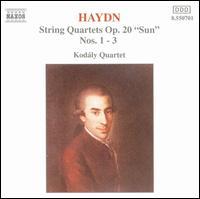 """Haydn: String Quartets, Op. 20 """"Sun"""", Nos. 1-3 - Various Artists"""