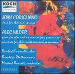 John Corigliano: Aria for oboe & strings; Alec Wilder: Piece for oboe & improvisatory percussion