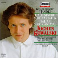 Georg Frederic H�ndel: Cantatas - Akademie f�r Alte Musik, Berlin; Christine Schornsheim (clavicembalo); Jochen Kowalski (alto); Siegfried Palm (viola da gamba)