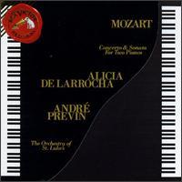 Mozart: Concerto for Two Pianos; Sonata for Two Pianos, K448 - Alicia de Larrocha (piano); Andr� Previn (piano); Orchestra of St. Luke's; Andr� Previn (conductor)