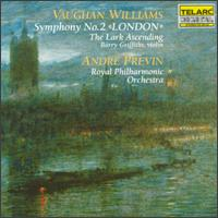 """Vaughan Williams: Symphony No. 2 """"London""""; The Lark Ascending - Barry Griffiths (violin); Royal Philharmonic Orchestra; Andr� Previn (conductor)"""