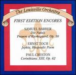 Barber, Toch, Creston: Orchestral Music