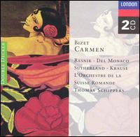 Bizet: Carmen - Joan Sutherland (vocals); Mario del Monaco (vocals); Regina Resnik (vocals); Tom Krause (vocals); Yvonne Minton (vocals);...