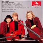 David Diamond: Trio for Violin, Cello and Piano; Quartet for Piano and String Trio; Trio in G Major
