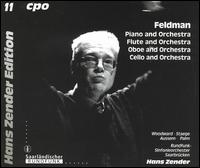 Feldman: Piano and Orchestra; Flute and Orchestra; Oboe and Orchestra; Cello and Orchestra - Armin Aussem (oboe); Roger Woodward (piano); Roswitha Staege (flute); Siegfried Palm (cello);...