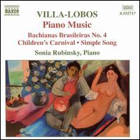 Villa-Lobos: Bachianas Brasileiras No. 4 - Sonia Rubinsky (piano); Tatjana Rankovich (piano)