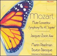 "Mozart: Flute Concertos; Symphony No. 41 ""Jupiter"" - Boston Baroque; Jacques Zoon (flute); Martin Pearlman (conductor)"