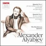 Alexander Alyabiev: Quartet No. 1; Quartet No. 3