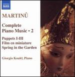 Martinu: Complete Piano Music, Vol. 2