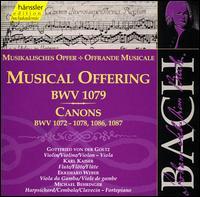 Bach: Musical Offering; Canons - Christian Goosses (viola); Christian Goosses (violin); Daniela Helms (violin); Ekkehard Weber (viola da gamba);...