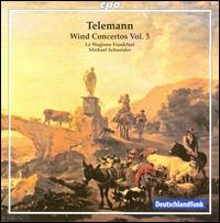 Telemann: Wind Concertos, Vol. 5 - J�rg Schultess (horn); Karl Kaiser (flute); Luise Baumgartl (oboe d'amore); Luise Baumgartl (oboe);...