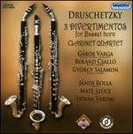 Druschetzky: 3 Divertimentos for Basset Horn; Clarinet Quartet