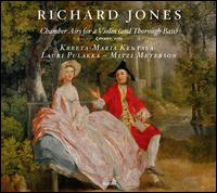 Richard Jones: Chamber Airs for a Violin (and Thorough Bass) - Kreeta-Maria Kentala (violin); Lauri Pulakka (cello); Mitzi Meyerson (harpsichord)
