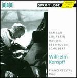 Piano Recital, 1962: Rameau, Couperin, HSndel, Beethoven, Schubert