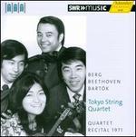Toyko String Quartet Plays Berg, Beethoven & Bart?k