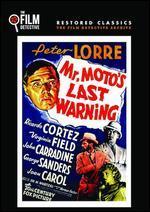 Mr. Moto's Last Warning (Dvd) (1939) (All Regions) (Ntsc) (Us Import) [Region 1]