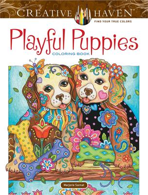 Creative Haven Playful Puppies Coloring Book - Sarnat, Marjorie