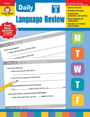 Daily Language Review, Grade 3 - Williams, Richard H, and Williams, Laura B, and Evan-Moor Educational Publishers