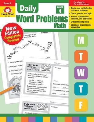 Daily Word Problems, Grade 4 - Evan-Moor