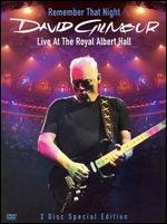 David Gilmour: Remember That Night - Live from Royal Albert Hall - David Mallet