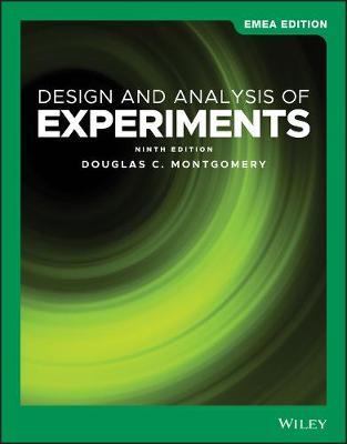 Design & Analysis of Experiments - Montgomery, Douglas C.