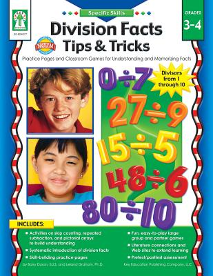 Division Facts Tips & Tricks: Practice Pages and Classroom Games for Understanding and Memorizing Facts - Pressnall, Debra Olson