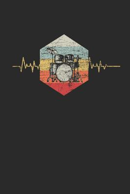 Drums Heartbeat: Dotted Bullet Journal (6 X 9 -120 Pages) - Music Instrument Gift For Drummer - Publishing, Drummer
