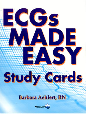 Ecgs Made Easy Study Cards - Aehlert, Barbara, and Mosby (Manufactured by)