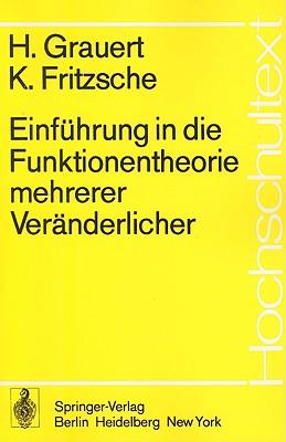 Einf hrung in Die Funktionentheorie Mehrerer Ver nderlicher - Grauert, H, and Fritzsche, K