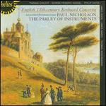 English 18th Century Keyboard Concertos