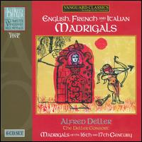 English French and Italian Madrigals - Alfred Deller (counter tenor); Baroque String Ensemble; Deller Consort