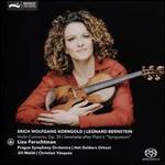"Erich Wolfgang Korngold: Violin Concerto, Op. 35; Leonard Bernstein: Serenade after Plato's ""Symposium"""