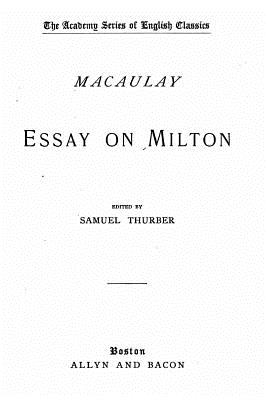 Essay on Milton - Macaulay