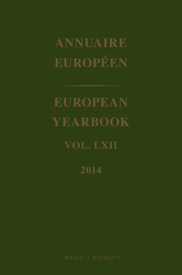 European Yearbook / Annuaire Europeen, Volume 62 (2014) - Council of Europe (Editor)