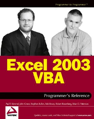 Excel 2003 VBA Programmer's Reference - Kimmel, Paul, and Bullen, Stephen, and Bovey, Rob