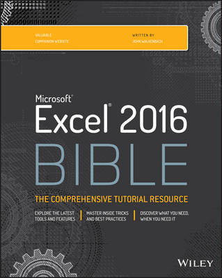 Excel 2016 Bible - Walkenbach, John