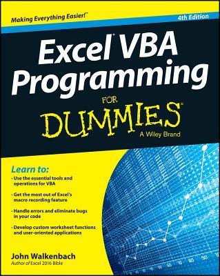 Excel VBA Programming for Dummies - Walkenbach, John