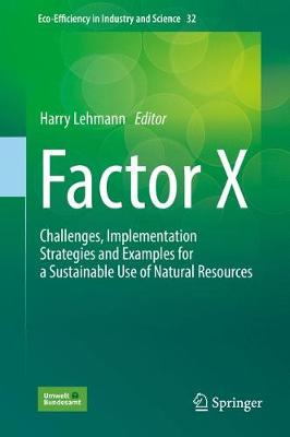 Factor X: Challenges, Implementation Strategies and Examples for a Sustainable Use of Natural Resources - Lehmann, Harry (Editor), and Hinzmann, Mandy (Contributions by), and Evans, Nick (Contributions by)